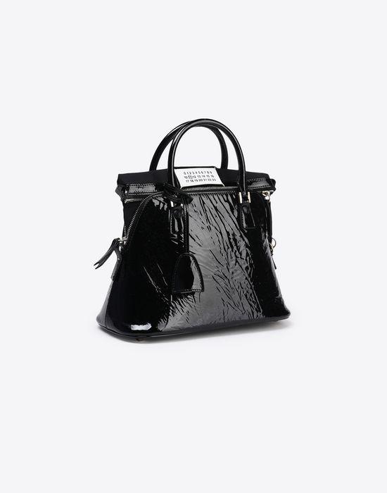 MAISON MARGIELA Mini 5AC in creased patent calfskin Handbag Woman r