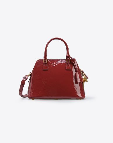 MAISON MARGIELA Mini 5AC in creased patent calfskin Handbag D f