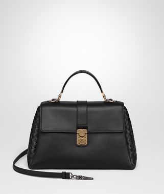 NERO CALF MEDIUM PIAZZA BAG