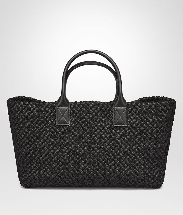 BOTTEGA VENETA NERO LAMBSKIN MEDIUM CABAT Tote Bag D fp
