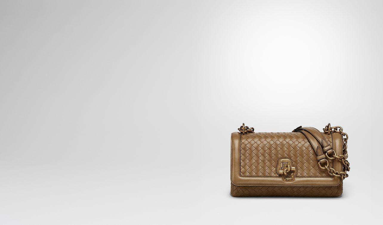 Olimpia Knot Intrecciato Leather Shoulder Bag - Camel Bottega Veneta 3nRxo