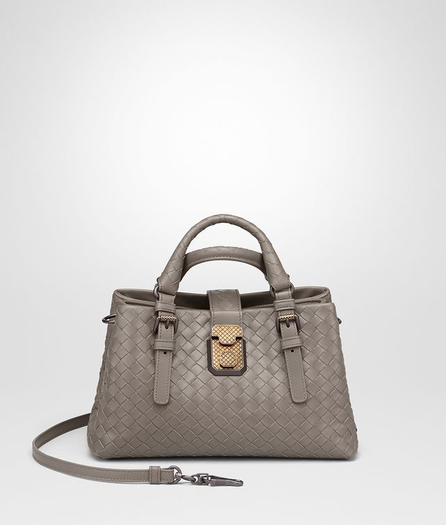 BOTTEGA VENETA STEEL INTRECCIATO CALF MINI ROMA BAG Top Handle Bag       pickupInStoreShipping info f1f64728a0c0d
