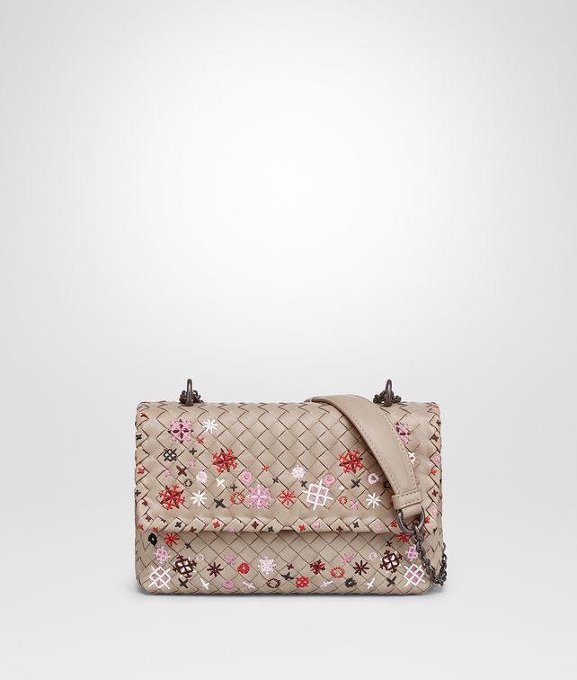 cba728ffcf35 BOTTEGA VENETA MINK INTRECCIATO MEADOW FLOWER BABY OLIMPIA BAG Shoulder Bag       pickupInStoreShipping info