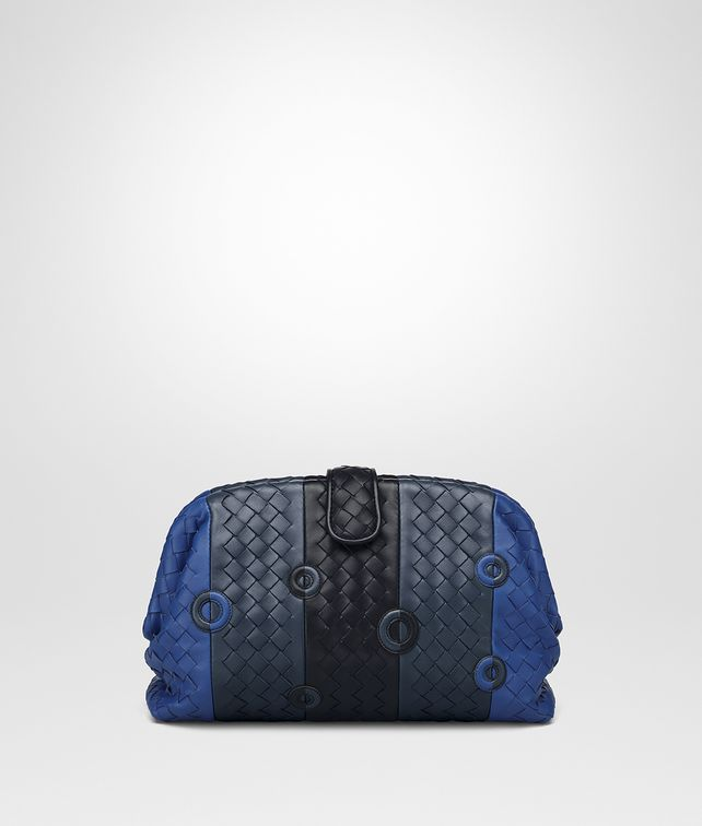 BOTTEGA VENETA COBALT BLUE NAPPA THE LAUREN 1980 CLUTCH Clutch Woman fp