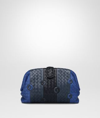 COBALT BLUE NAPPA THE LAUREN 1980 CLUTCH