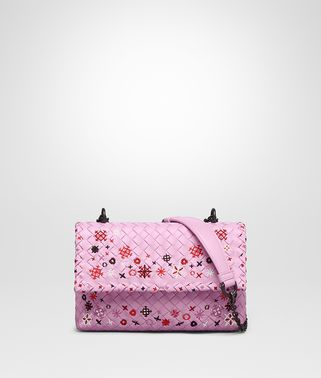 BORSA OLIMPIA IN INTRECCIATO MEADOW FLOWER DRAGEE