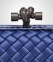 BOTTEGA VENETA COBALT BLUE INTRECCIATO IMPERO STRETCH KNOT Clutch Woman ep