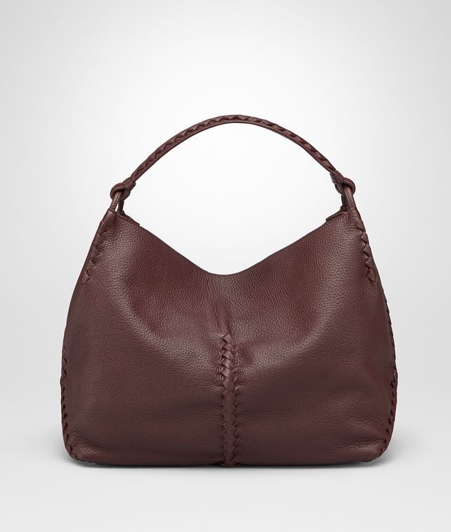BOTTEGA VENETA DARK BAROLO CERVO MEDIUM SHOULDER BAG Shoulder Bag Woman fp