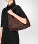 BOTTEGA VENETA DARK BAROLO CERVO MEDIUM SHOULDER BAG Shoulder Bag Woman ap