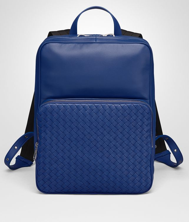 BOTTEGA VENETA COBALT BLUE NAPPA BACKPACK Backpack Man fp