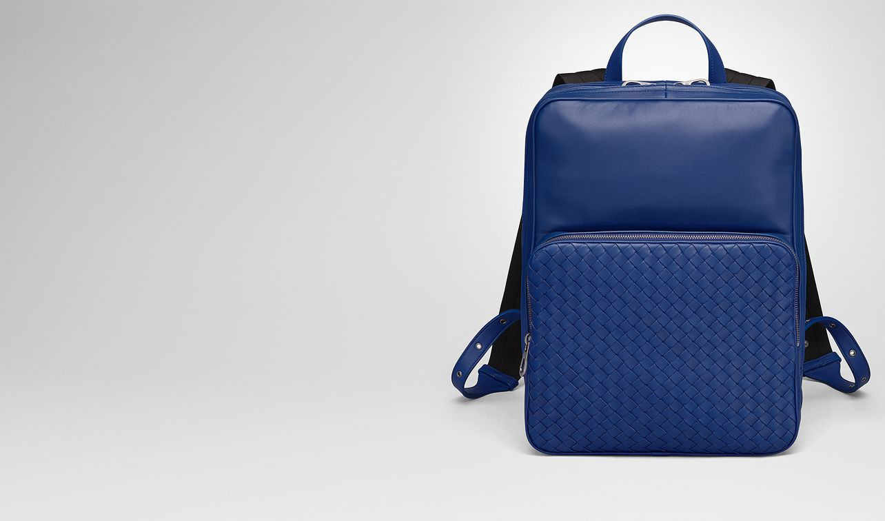 cobalt blue nappa backpack landing