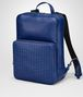 cobalt blue nappa backpack Right Side Portrait