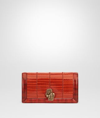 KNOT CLUTCH IN ELAPHE TERRACOTTA