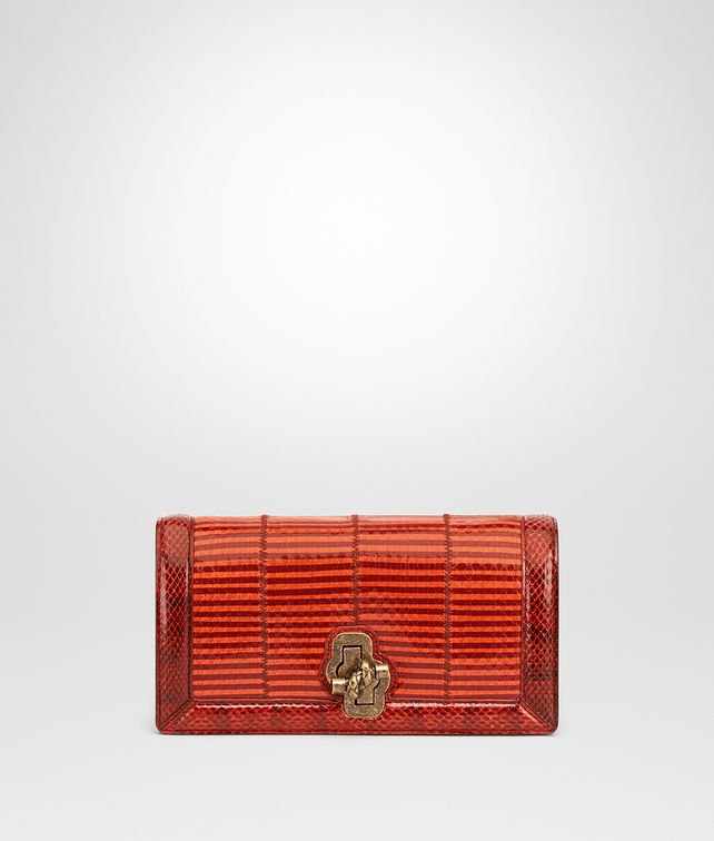 BOTTEGA VENETA TERRACOTTA ELAPHE KNOT CLUTCH Clutch Woman fp