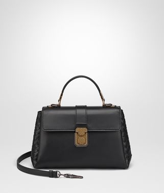 NERO CALF SMALL PIAZZA BAG