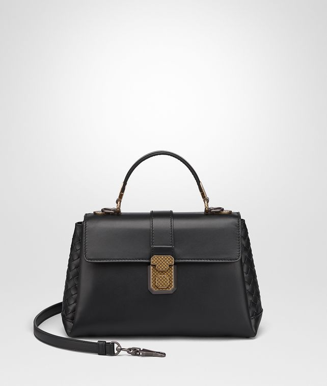 BOTTEGA VENETA NERO CALF SMALL PIAZZA BAG Top Handle Bag [*** pickupInStoreShippingNotGuaranteed_info ***] fp