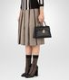 BOTTEGA VENETA NERO CALF SMALL PIAZZA BAG Top Handle Bag Woman ap