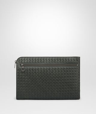DARK MOSS INTRECCIATO DOCUMENT CASE