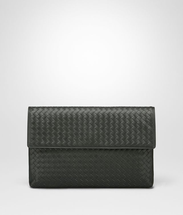 BOTTEGA VENETA DARK MOSS INTRECCIATO DOCUMENT CASE Document case [*** pickupInStoreShippingNotGuaranteed_info ***] fp