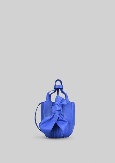 TOTE BAG IN NAPA LEATHER WITH BOW