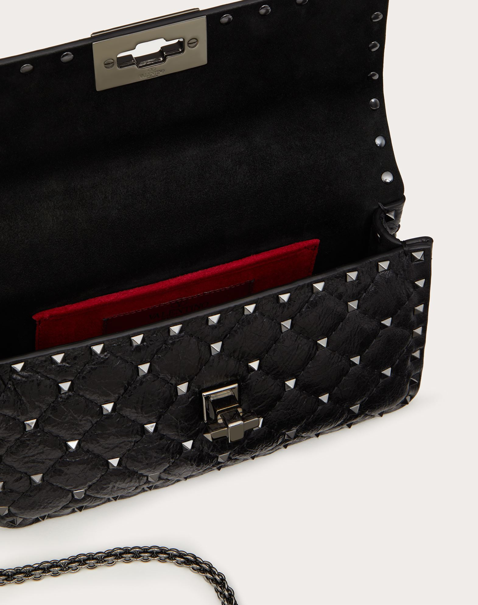 VALENTINO GARAVANI Bolso con cadena Rockstud Spike pequeño Bolso de hombro D e