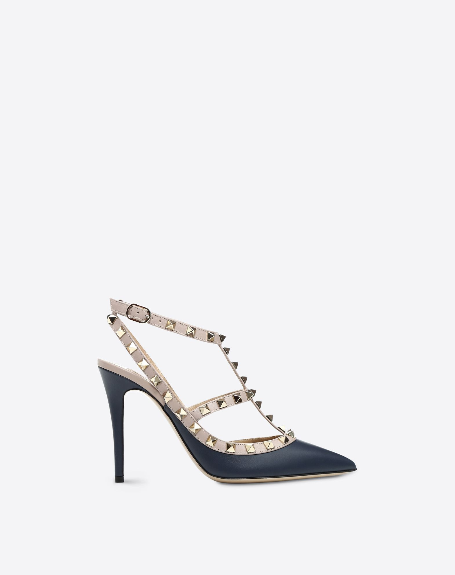 VALENTINO Two-tone Buckle Leather sole  45378879oe