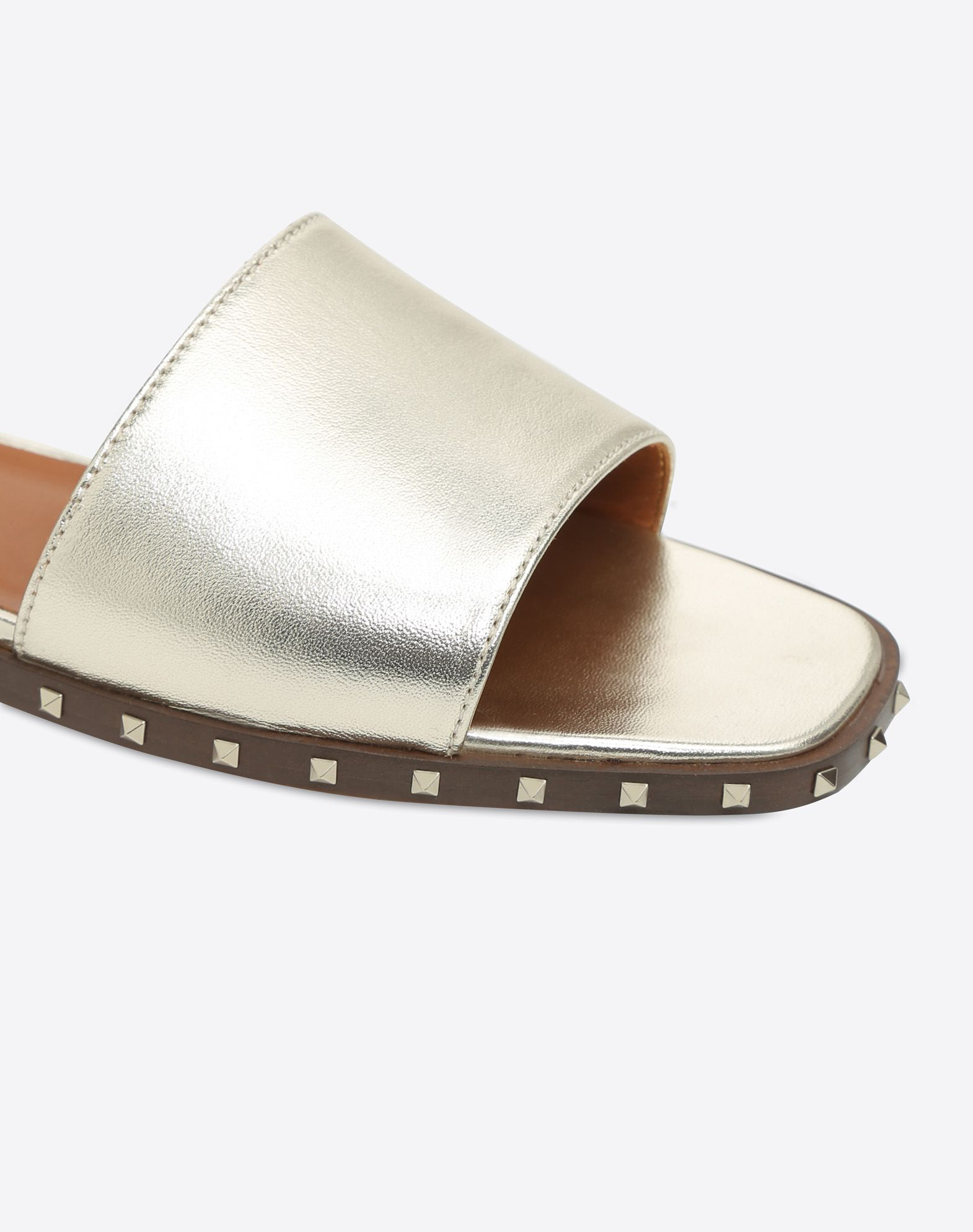 VALENTINO Studs Square toeline Solid color Leather sole  45378880mw