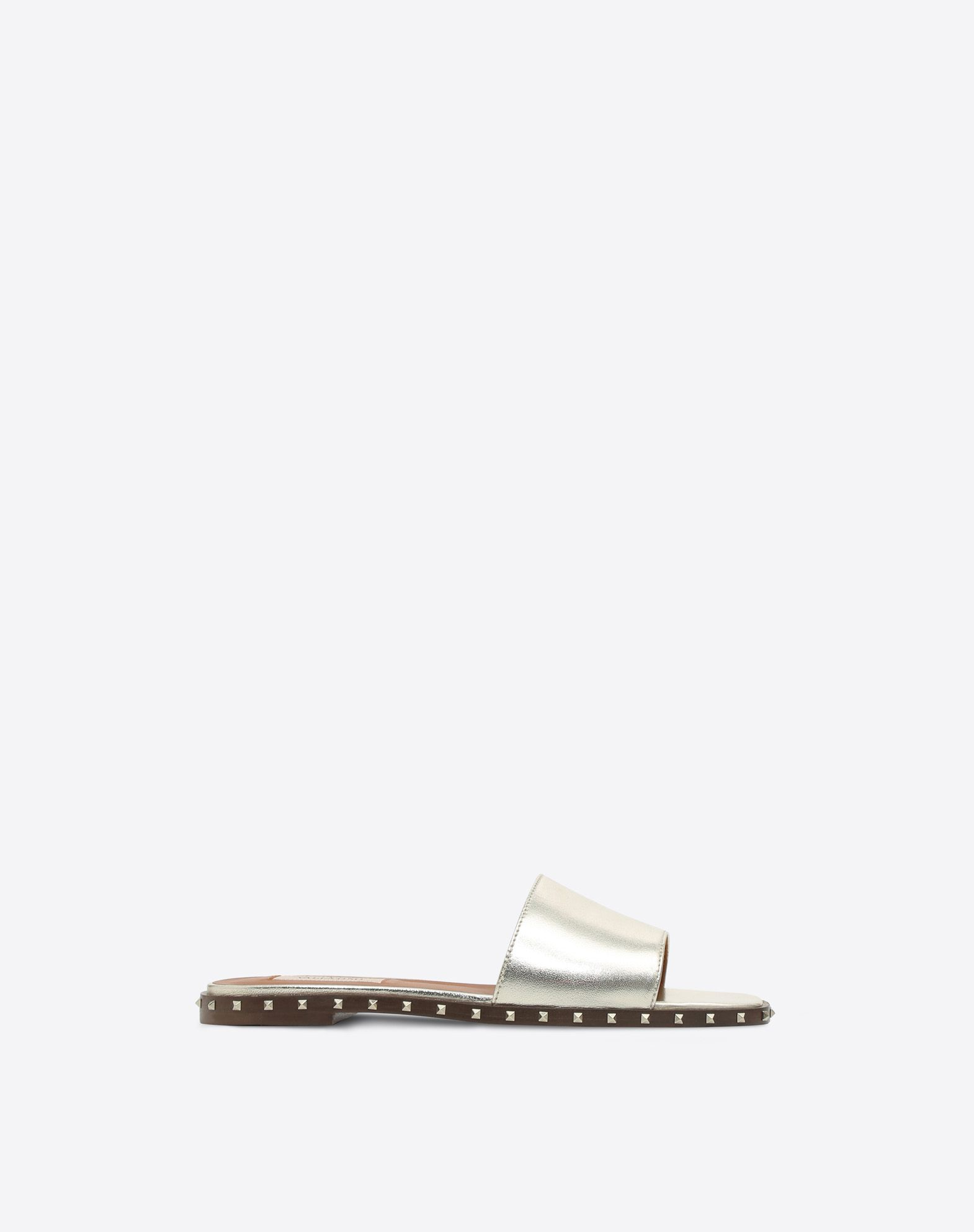 SOUL ROCKSTUD LEATHER SLIDES
