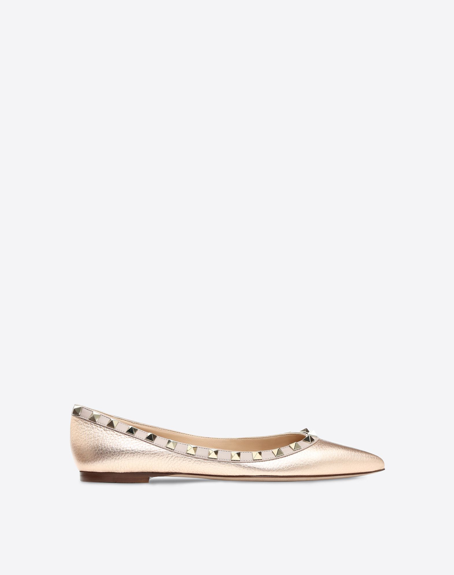 VALENTINO Studs Basic solid colour Narrow toeline Leather sole  45378881xt