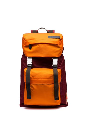 Marni Backpack in orange nylon Man