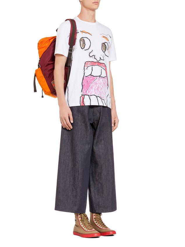 Marni Backpack in orange nylon Man - 5