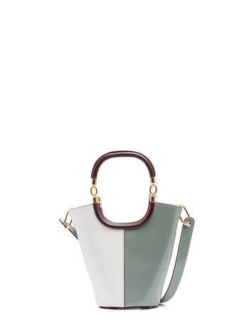 Marni MAILI bag in shiny calfskin grey Woman