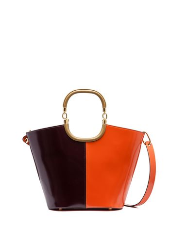 Marni MAILI bag in calfskin orange Woman