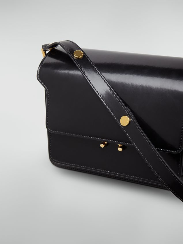 Marni TRUNK bag in black polished calfskin Woman - 5