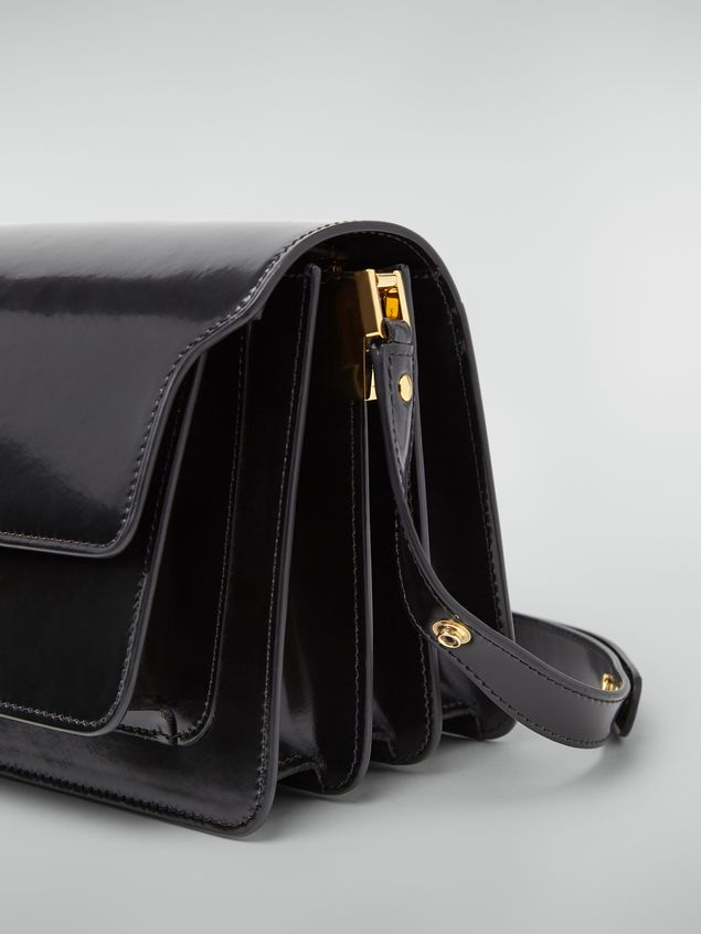 Marni TRUNK bag in black polished calfskin Woman - 4