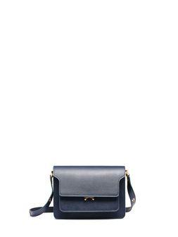 Marni Blue Saffiano leather TRUNK bag Woman