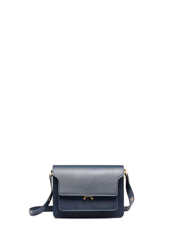 Marni Blue Saffiano leather TRUNK bag Woman