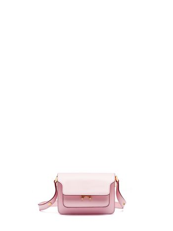 Marni Pink Saffiano leather MINI TRUNK bag Woman
