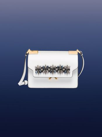 Marni MICRO TRUNK bag with crystals Woman