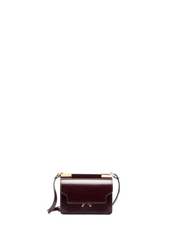 Marni Burgundy calfskin TRUNK bag Woman