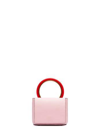 Pink Calfskin Pannier Bag