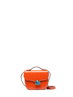 Marni Orange calfskin MRS MIDI bag Woman