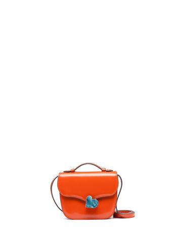 Marni MRS MIDI bag in calfskin orange Woman