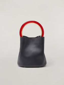 Marni Black calfskin PANNIER bag Woman