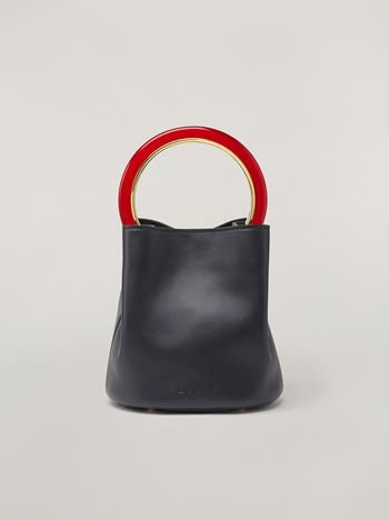 Marni PANNIER bag in calfskin black Woman f