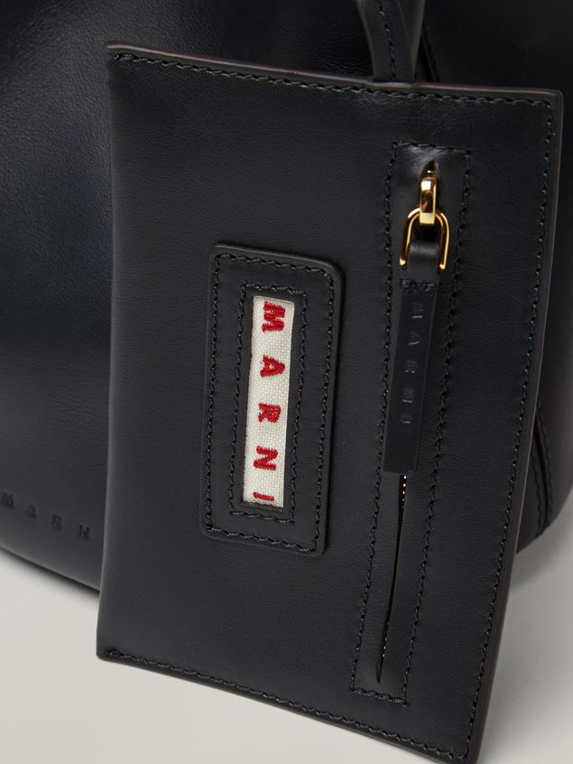 Marni Black calfskin PANNIER bag Woman - 4