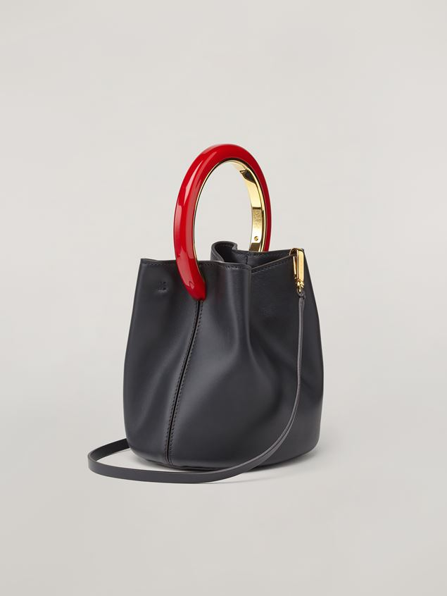 Marni Black calfskin PANNIER bag Woman - 3