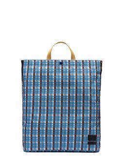 Marni PORTER tote bag in nylon with Metro print Man