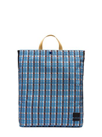 Marni PORTER tote bag in nylon with Metro print Man