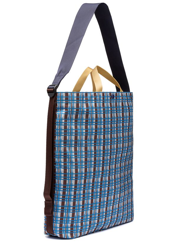 Marni Porter Tote Bag In Nylon With Metro Print Man 2